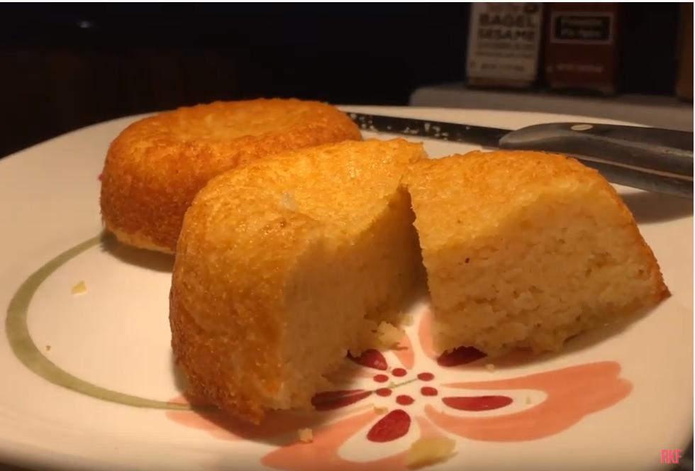 a keto vanilla cake sweetened with sugarlike