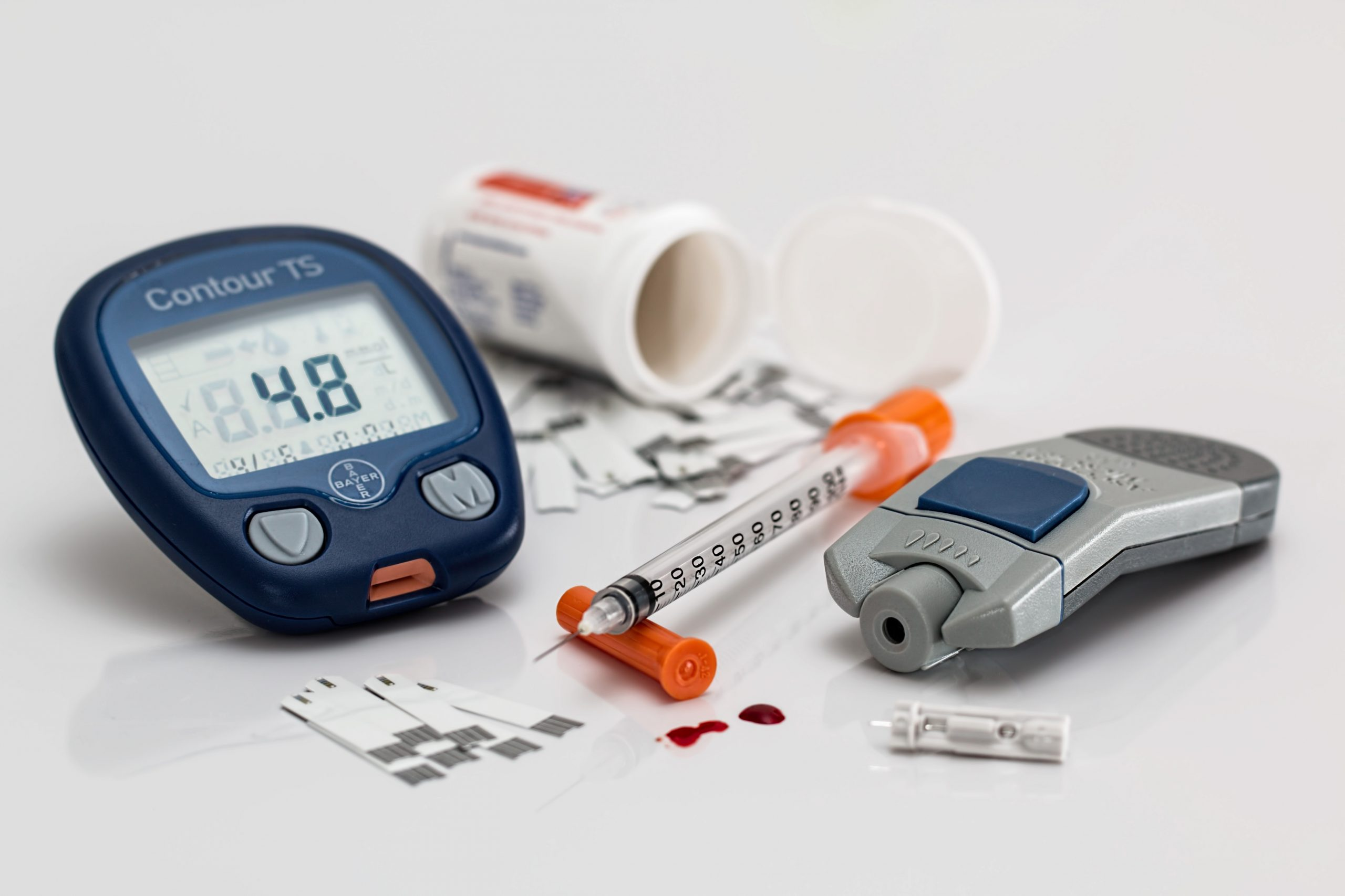 blood glucose monitoring and insulin injection tools for people with diabetes
